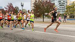 CVS Health Downtown 5k, USA 5k road championship, Pat Fullerton (57) leads