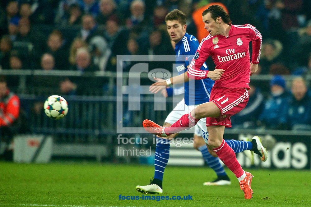 Gareth Bale of Real Madrid during the UEFA Champions League match at Veltins-Arena, Gelsenkirchen<br /> Picture by Ian Wadkins/Focus Images Ltd +44 7877 568959<br /> 18/02/2015