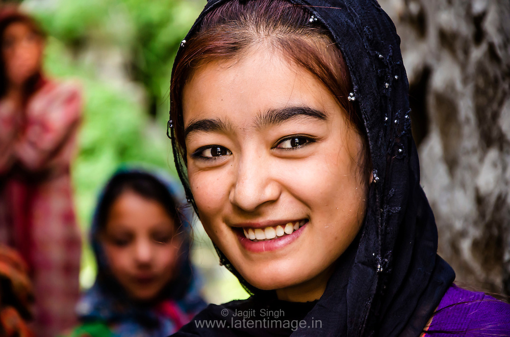 Turtuk Girl. Turtuk - A village just on the 'line of control' between India & Pakistan.