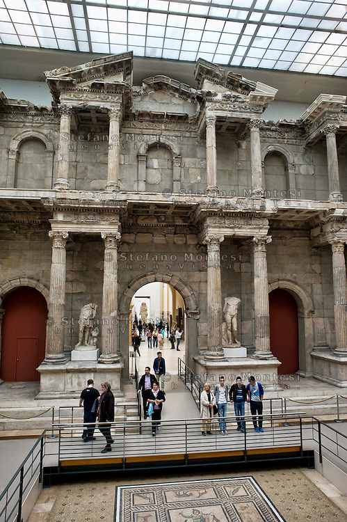 Berlin<br /> Pergamon Museum, The Market Gate of Miletus, hall of Roman Architecture  (Early 2nd century)