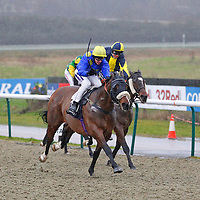 Bertie Blu Boy and Richard Kingscote winning the 2.30 race