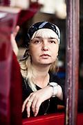 Paris, France. 23 Septembre 2013<br /> Polina Jerebtsova est une poétesse et écrivain tchétchène auteur du Journal de Polina qui a été traduit dans de nombreuses langues européennes. Elle a obtenu l'asile politique en Finlande en 2013.