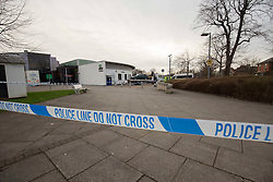 """© Licensed to London News Pictures. 07/03/2017 . MANCHESTER , UK.  <br /> <br /> Withington Community Hospital,  Manchester.<br /> Pedestrians have been struck by a car at the entrance to Withington Community Hospital. <br /> Police said ; """"Shortly after 2.05pm today (Tuesday 7 March 2017) officers were called to reports of a serious collision between a car and a number of pedestrians on a car park at Withington Hospital. <br /> Two people, a man and a woman, have been taken to hospital with life-threatening injuries. <br /> The driver of the vehicle, a man in his 80s, remained at the scene and is speaking with police.""""<br /> Pictured is the car involved being taken away.<br /> <br /> <br /> Photo credit: CHRIS BULL/LNP"""