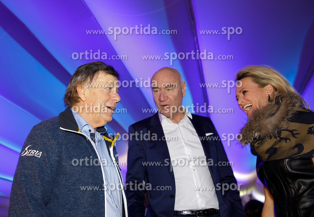 23.01.2017, Planai, Schladming, AUT, FIS Weltcup Ski Alpin, Slalom, Herren, Charity Night, im Bild v.l.: Peter Schröcksnadel, ÖSV, Fritz Melcher, ORF, Alexandra Meissnitzer // during the Charity Night prior to the Schladming FIS Ski Alpine World Cup 2017 at the Planai in Schladming, Austria on 2017/01/23. EXPA Pictures © 2017, PhotoCredit: EXPA/ Martin Huber