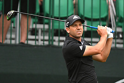 May 3, 2019 - Charlotte, NC, U.S. - CHARLOTTE, NC - MAY 03: Sergio Garcia plays his shot from the tenth tee in round two of the Wells Fargo Championship on May 03, 2019 at Quail Hollow Club in Charlotte,NC. (Photo by Dannie Walls/Icon Sportswire) (Credit Image: © Dannie Walls/Icon SMI via ZUMA Press)