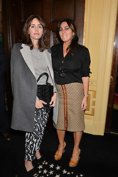 Left to right, TANIA FARES and SOLANGE AZAGURY-PARTRIDGE at a lunch to view Solange Azagury-Partridge's new collection - Chromance at her store at 5 Carlos Place, London on 7th October 2014.