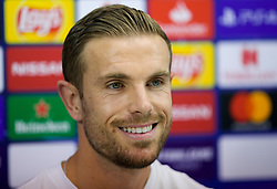 NAPLES, ITALY - Monday, September 16, 2019: Liverpool's captain Jordan Henderson during a press conference at the Stadio San Paolo ahead of the UEFA Champions League Group E match between SSC Napoli and Liverpool FC. (Pic by David Rawcliffe/Propaganda)