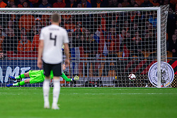 24-03-2019 NED: UEFA Euro 2020 qualification Netherlands - Germany, Amsterdam<br /> Netherlands lost the match 3-2 in the last minute / Nico Schultz #14 of Germany scores 3-2 in the last minute. goalkeeper Jasper Cillessen #1 of The Netherlands