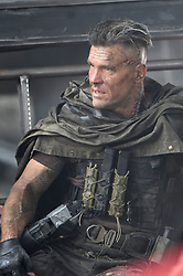 Josh Brolin transforms into 'Cable' on the Deadpool 2 set in Vancouver, Canada. Josh was filming scenes where his character lies unconscious after an explosion under a bridge and next to an upturned car. Josh was seen with battle scars across his face during the scenes. Deadpool 2 recently began filming again after a fatal accident on set involving a stunt woman. 16 Aug 2017 Pictured: Josh Brolin. Photo credit: Atlantic Images/ MEGA TheMegaAgency.com +1 888 505 6342