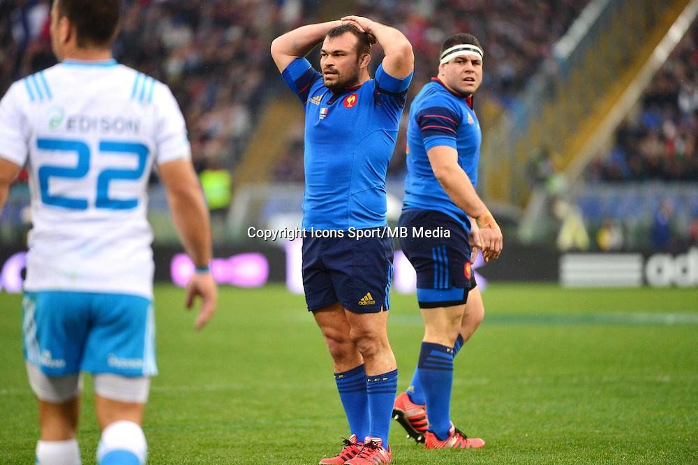 Nicolas MAS - 15.03.2015 - Rugby - Italie / France - Tournoi des VI Nations -Rome<br /> Photo : David Winter / Icon Sport