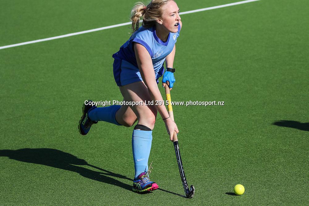 Jane Thomson in action. NHL Womens Hockey. Northland v Midlands. Whangarei. New Zealand. 12 September 2015. Copyright Photo: Heath Johnson / www.photosport.nz