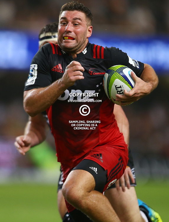 DURBAN, SOUTH AFRICA - MARCH 26: Kieron Fonotia of the BNZ Crusaders during the Super Rugby match between Cell C Sharks and BNZ Crusaders at Growthpoint Kings Park on March 26, 2016 in Durban, South Africa. (Photo by Steve Haag/Gallo Images)