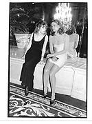 Diandra Douglas and Clarissa Alcock. ( Mrs. Edgar Bronfman JNr. ) Bill Bernbach Memorial Award dinner. Plaza. NY>12 October 1993. © Copyright Photograph by Dafydd Jones 66 Stockwell Park Rd. London SW9 0DA Tel 020 7733 0108 www.dafjones.com