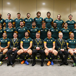 LONDON, ENGLAND - OCTOBER 29: Official team photograph during the South African national rugby team Official team photograph at Radisson Blu Edwardian, Guildford on October 29, 2015 in London, England. (Photo by Steve Haag/Gallo Images)