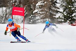 Super Combined and Super G, FITZPATRICK Menna Guide: KEHOE Jennifer, B2, GBR at the WPAS_2019 Alpine Skiing World Championships, Kranjska Gora, Slovenia