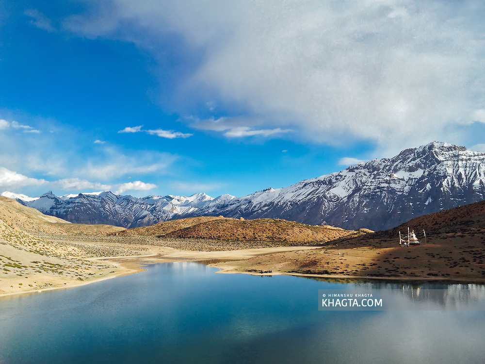 iPhone Landscape of #Dhankhar lake in #Spiti