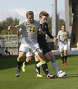 St Mirren's Jeroen Tesselaar holds off Dundee's Craig Wighton - St Mirren v Dundee, SPFL Premiership at St Mirren Park<br /> <br />  - &copy; David Young - www.davidyoungphoto.co.uk - email: davidyoungphoto@gmail.com