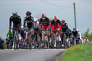 The peloton led by Nicholas Dlamini of Dimension Data during the second stage of the Tour de Yorkshire from Barnsley to Bedale, Barnsley, United Kingdom on 3 May 2019.