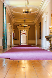 Wentworth Woodhouse corridor linking the the Marble Saloon,Van Dyke Room and Whistlejacket Room  <br />