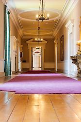 Wentworth Woodhouse corridor linking the the Marble Saloon,Van Dyke Room and Whistlejacket Room  <br /> <br /> 26 June 2013<br /> Image &copy; Paul David Drabble<br /> www.pauldaviddrabble.co.uk
