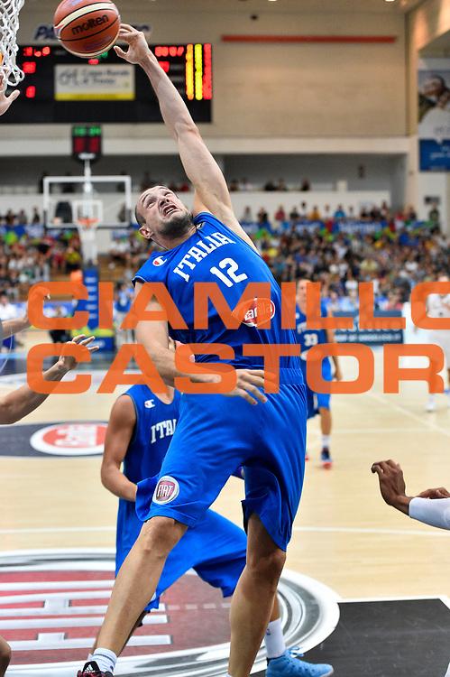 DESCRIZIONE : Trento Nazionale Italia Uomini Trentino Basket Cup Italia Germania Italy Germany <br /> GIOCATORE : Marco Cusin<br /> CATEGORIA : tiro<br /> SQUADRA : Italia Italy<br /> EVENTO : Trentino Basket Cup<br /> GARA : Italia Germania Italy Germany<br /> DATA : 01/08/2015<br /> SPORT : Pallacanestro<br /> AUTORE : Agenzia Ciamillo-Castoria/GiulioCiamillo<br /> Galleria : FIP Nazionali 2015<br /> Fotonotizia : Trento Nazionale Italia Uomini Trentino Basket Cup Italia Germania Italy Germany