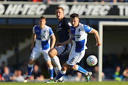 Ollie Clarke of Bristol Rovers turns away from Simon Cox of Southend United - Mandatory by-line: Richard Calver/JMP - 05/05/2018 - FOOTBALL - Roots Hall - Southend-on-Sea, England - Southend United v Bristol Rovers - Sky Bet League One