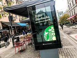 November 21, 2018 - Milan, Italy - Advertising of the new original Starbucks Coffe in Milan Italy, on November 21 2018. (Credit Image: © Mairo Cinquetti/NurPhoto via ZUMA Press)
