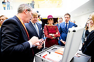 12-10-2018 - HOMBURG - King Willem-Alexander and Queen Maxima during eHealth and elderly care, Dutch-German cooperation (Uniklinikum Homburg) . The royal couple brings a working visit to the German federal states Rhineland-Palatinate and Saarland.  ROBIN UTRECHT