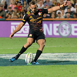 Aaron Cruden  during the Investec Super  Rugby match between the Chiefs and Blues at FMG Waikato Stadium in Hamilton, New Zealand on Friday 3 March 2017. Photo: Dion Mellow / lintottphoto.co.nz