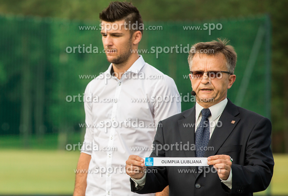 Rok Kronaveter of NK Olimpija Ljubljana and Andrej Zalar during NZS Draw for season 2016/17, on June 24, 2016 in Brdo pri Kranju, Slovenia. Photo by Vid Ponikvar / Sportida