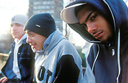 Three teenage boys, London, 2003