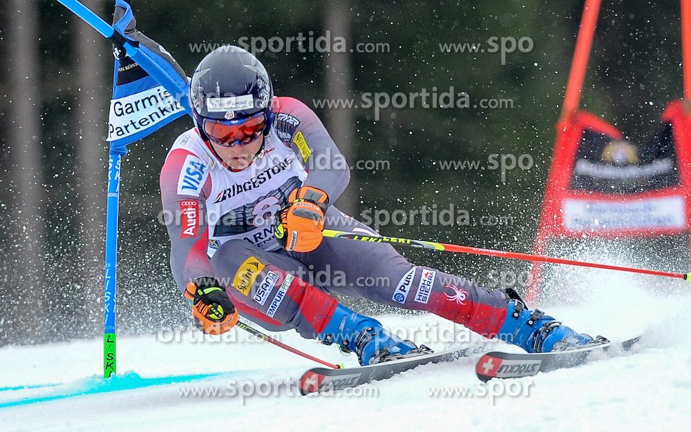 01.03.2015, Kandahar, Garmisch Partenkirchen, GER, FIS Weltcup Ski Alpin, Garmisch Partenkirchen, Riesenslalom, Herren, 1. Lauf, im Bild Tim Jitloff (USA) // Tim Jitloff of the USA in action during 1st run for the men's Giant Slalom of the FIS Ski Alpine World Cup at the Kandahar in Garmisch Partenkirchen, Germany on 2015/03/01. EXPA Pictures © 2015, PhotoCredit: EXPA/ Erich Spiess