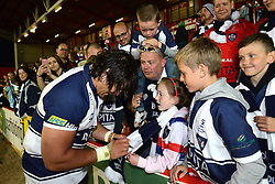 Bristol Tighthead Prop Gaston Cortes signs an autograph  - Photo mandatory by-line: Dougie Allward/JMP - Mobile: 07966 386802 - 20/05/2015 - SPORT - Rugby - Bristol - Ashton Gate - Bristol Rugby v Worcester Warriors - Greene King IPA Championship - Play-Off Final