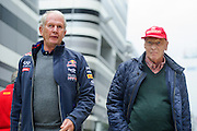 October 8-11, 2015: Russian GP 2015: Niki Lauda and Helmut Marko