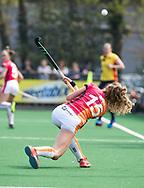 LAREN -  Hockey -  Yibbi Jansen (Oranje-Rood)   Hoofdklasse dames Laren-Oranje Rood (0-4). Oranje Rood plaatst zich voor Play Offs.  COPYRIGHT KOEN SUYK