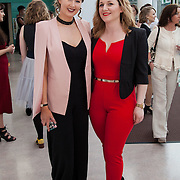 13.05.2016.           <br /> Katie Byrne, Clonmel and Angela Cerriku, Limerick pictured at the much anticipated Limerick School of Art & Design, LIT, (LSAD) Graduate Fashion Show on Thursday 12th May 2016. The show took place at the LSAD Gallery where 27 graduates from the largest fashion degree programme in Ireland showcased their creations. Ranked among the world's top 50 fashion colleges, Limerick School of Art and Design is continuing to mould future Irish designers.. Picture: Alan Place/Fusionshooters