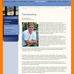 Photos of Occidental College alumni and founder of Tuenti (one of the largest social networks in Spain) for the Occidental College Magazine and website.