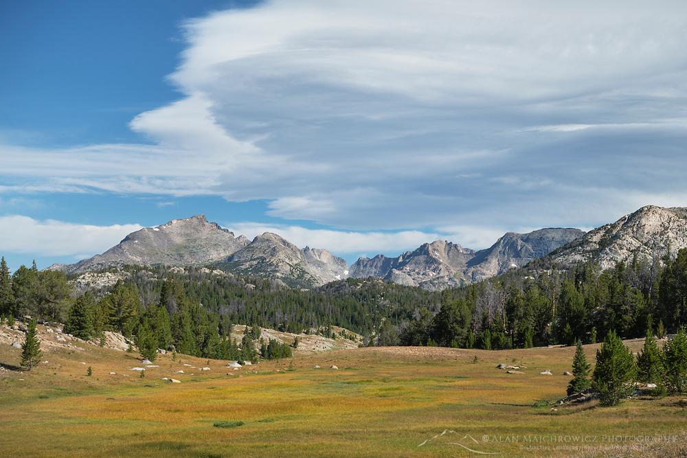 Mount Geikie from Fremont Trail near Dads Lake. Bridger Wilderness, Wind River Range  Wyoming