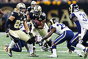 NEW ORLEANS, LA - NOVEMBER 27:  Mark Ingram #22 of the New Orleans Saints runs the ball against the Los Angeles Rams at Mercedes-Benz Superdome on November 27, 2016 in New Orleans, Louisiana.  The Saints defeated the Rams 49-21.  (Photo by Wesley Hitt/Getty Images) *** Local Caption *** Mark Ingram