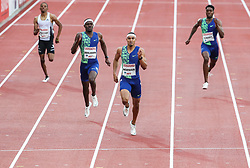 STOCKHOLM, May 31, 2019  Michael Norman (2nd R) of the United States competes during the men's 400m at 2019 IAAF Diamond League in Stockholm, capital of Sweden, on May 30, 2019. Michael Norman won the 1st place with 44.53 seconds. (Credit Image: © Xinhua via ZUMA Wire)