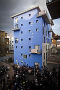 Momento assembleare presso le palazzine occupate dell'Ex-Moi in via Giordano Bruno. Torino,