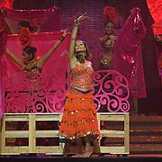 SHEFFIELD, UNITED KINGDOM - 9th June 2007: Bollywood actress Bipasha Basu performing at  International Indian Film Academy Awards (IIFAs) at the Sheffield Hallam Arena on June 9, 2007 in Sheffield, England.