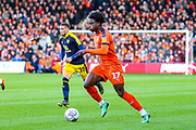 Luton Town midfielder Pelly-Ruddock Mpanzu (17) during the EFL Sky Bet League 1 match between Luton Town and Oxford United at Kenilworth Road, Luton, England on 4 May 2019.