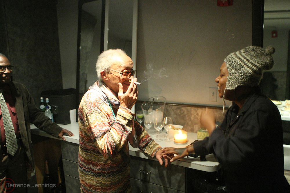 January 11, 2013-New York, NY- (L-R) Recording Artists Cecil Taylor and Meshell Ndegeocello backstage at the 2nd Annual Indelible Festival Produced by Jill Newman Productions and held at Highline Ballroom on January 11, 2013 in New York City.
