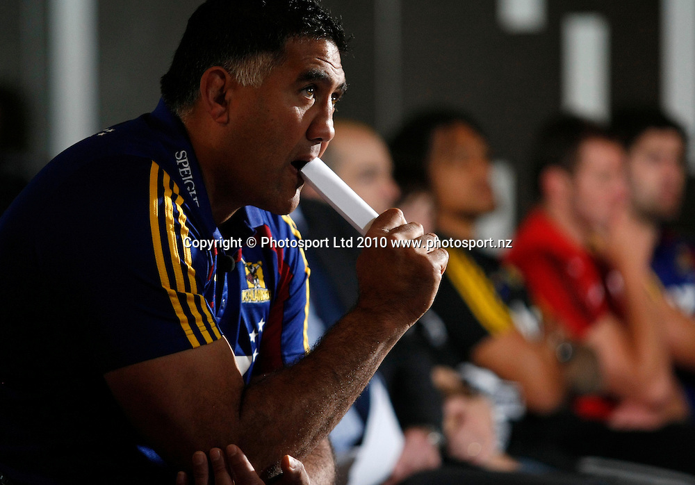 Highlanders coach Jamie Joseph. 2011 Investec Super 15 New Zealand franchises rugby squad naming, Eden Park, Auckland, Wednesday 10 November 2010. Photo: Simon Watts/photosport.co.nz