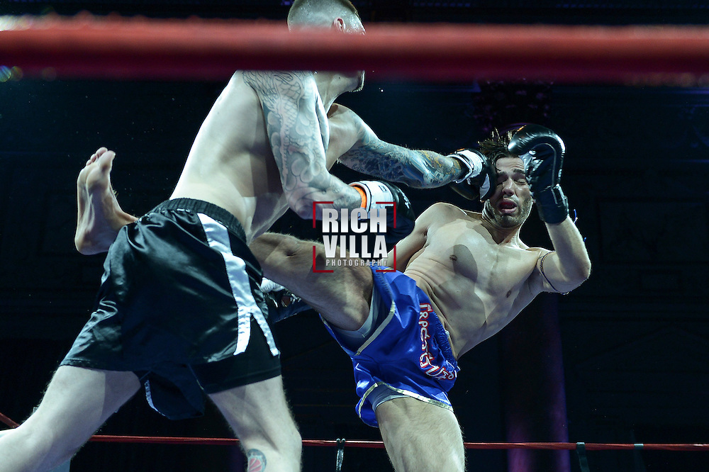 Friday, April 4, 2014, New York, NY:  Paul Miller(blue shorts) Vs Andrew Ball(black shorts) at The Capitale Ballroom in Combat at The Capitale 32.