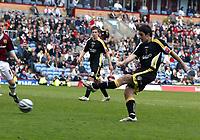 Photo: Paul Greenwood/Richard Lane Photography. <br /> Burnley v Cardiff City. Coca-Cola Championship. 26/04/2008. <br /> Cardiff's Tony Capaldi scores the third goal for Cardiff