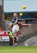 July 30th 2017, Dundee, Scotland; Betfred Cup football, group stages, Dundee versus Dundee United; Dundee&rsquo;s Kerr Waddell out jumps Dundee United's Scott McDonald<br /> <br />  - Picture by David Young - www.davidyounghoto@gmail.com - email: davidyoungphoto@gmail.com