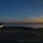 Sunrise, Grasspoint cottage and the Firth of Lorn, Isle of Mull