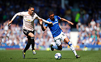 Football - 2018 / 2019 Premier League - Everton vs Manchester United<br /> <br /> at Goodison ParkFootball - 2018 / 2019 Premier League - Everton vs Manchester United<br /> <br /> Chris Smalling of Manchester United and Dominic Calvert-Lewin of Everton at Goodison Park
